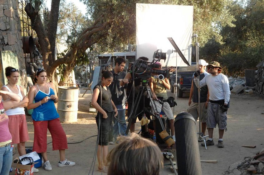 people on set with bounce