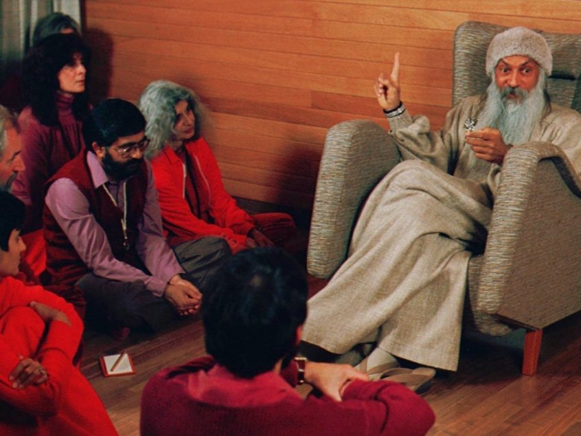 scene from Wild Wild Country docuseries