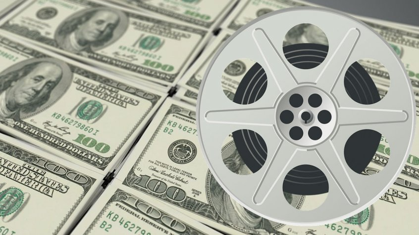 dollars with a film reel